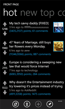 Reddit for Windows Phone
