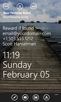 Customizable Lock Screen for Windows Phone