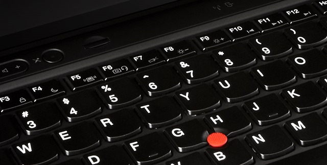 The Lenovo X1 Carbon Touch Keyboard