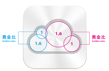 iCloud Icon Golden Ratio