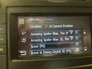 Entune showing movies near me