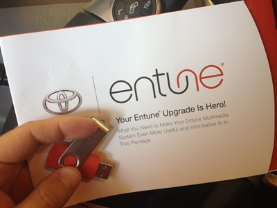 Toyota Entune 2.0.1 USB Stick Update