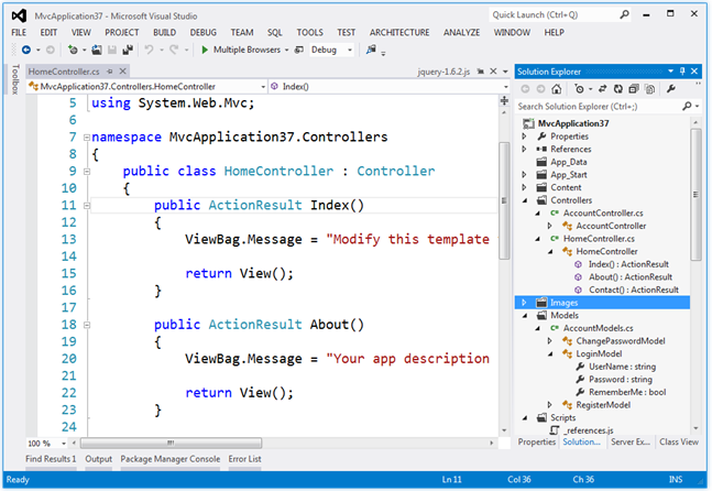 Visual Studio Light Theme