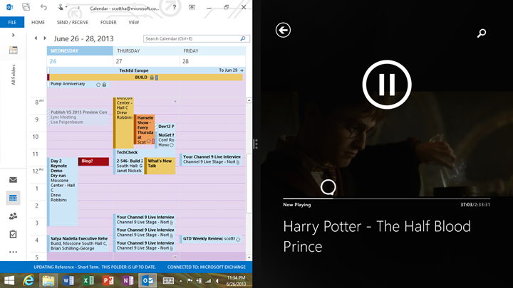 Outlook plus Harry Potter