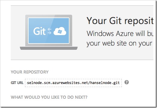 My git repository is ready