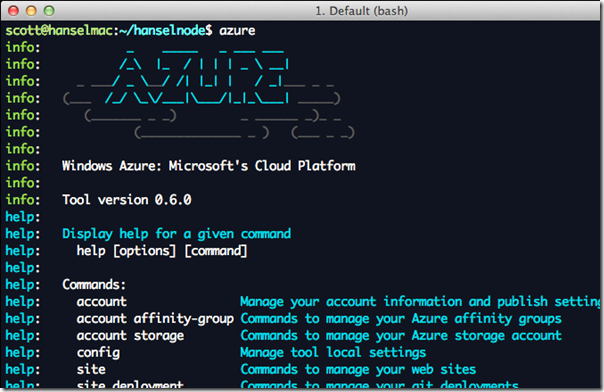 The Azure Command Line on a Mac