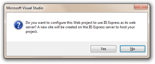 Create a new IIS Web Site?