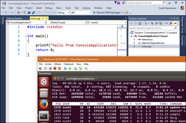 Debugging C++ apps remotely talking to a Linux VM