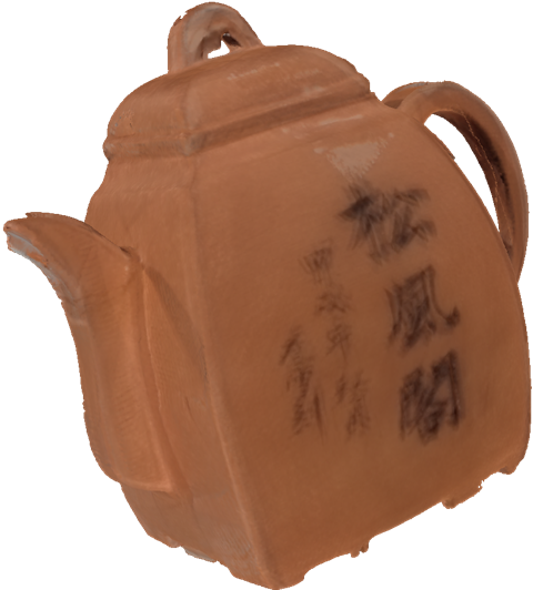 Teapot scanned by an HP Sprout 3D Capture Stage