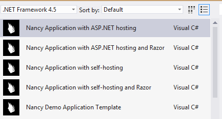 One ASP.NET: Nancy.Templates for Visual Studio - Scott Hanselman
