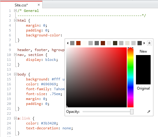 New CSS Color Picker