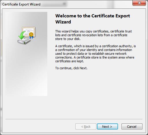 04 - Certificate Export