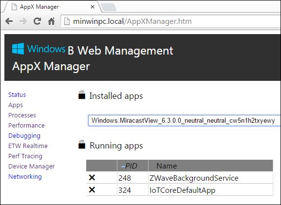 Raspberry Pi 2 Windows 10 Web Management