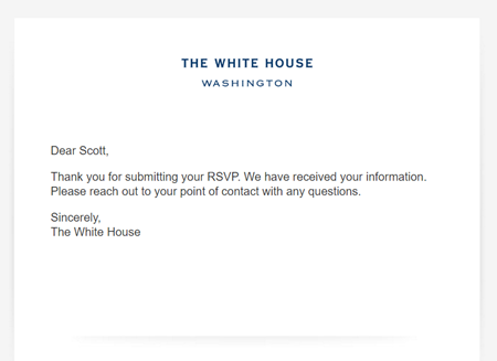 Going to the White House