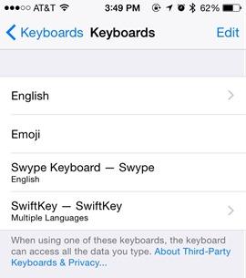 Multiple Keyboards