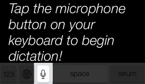 Press Microphone to Dictate to Siri