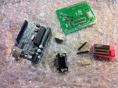 The OrbShield parts, unassembled