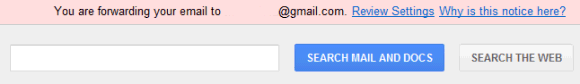 gmail redirect notice