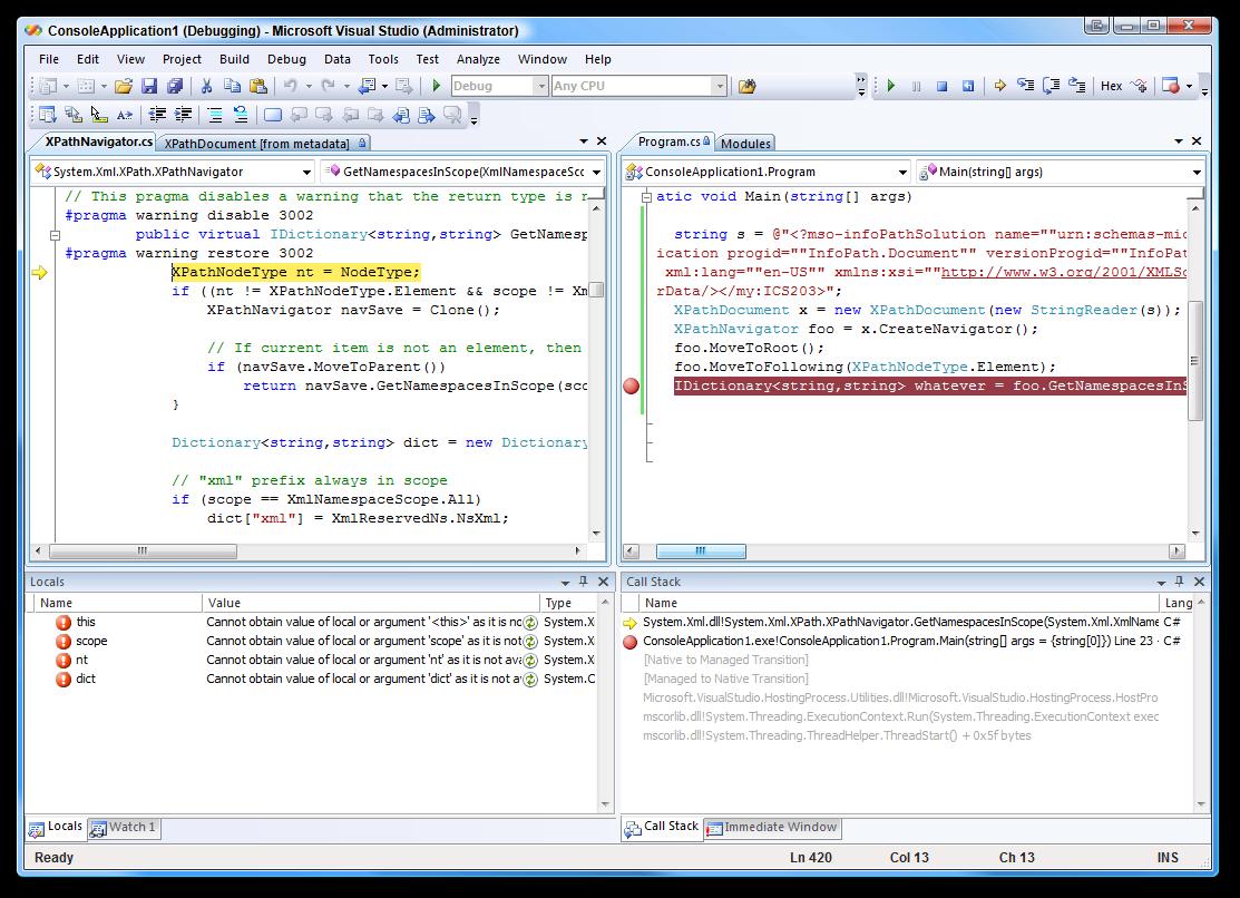ms visual studio net: