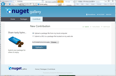 Submitting my app to the NuGet Gallery