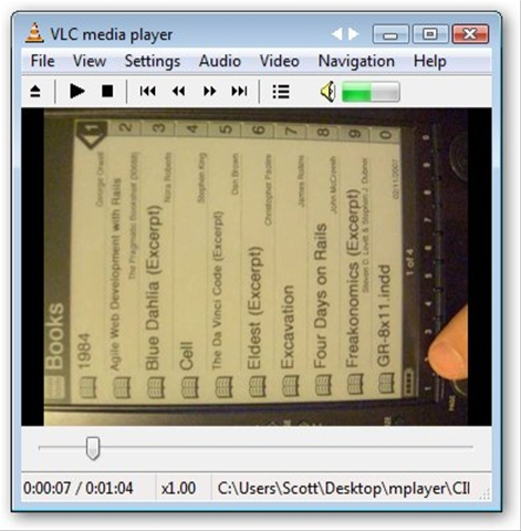 How to rotate an avi or mpeg file taken in portrait scott hanselman ive got a little casio exilim that i use to make little videos to post on this blog sometimes though i rotate the camera and end up creating a video ccuart Choice Image