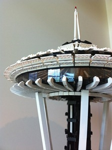 Space Needle made of LEGO