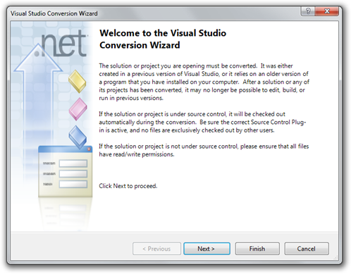Visual Studio Conversion Wizard (6)