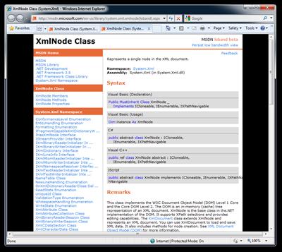 XmlNode Class (System.Xml) - Windows Internet Explorer (2)