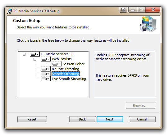 IIS Media Services 3.0 Setup