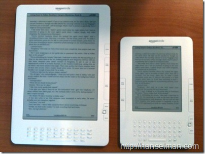 Amazon Kindle vs. Amazon Kindle DX
