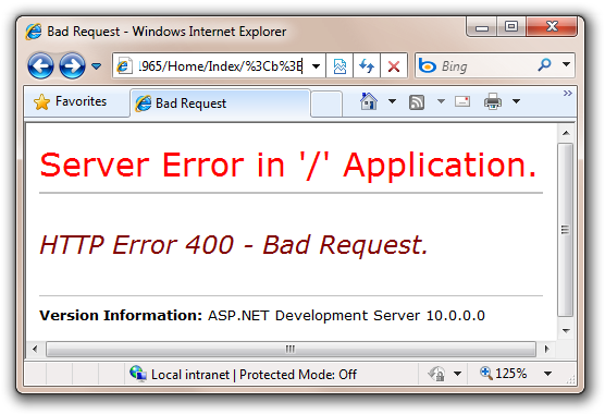 Bad Request - Windows Internet Explorer (2)