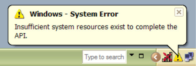 Can not hibernate &#8211; Insufficient System Resources Exist to Complete the API