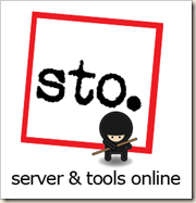 STO Ninja Logo - A square with a little Ninja Dude insde