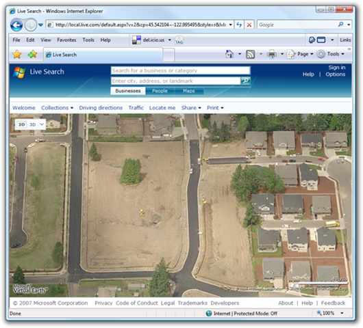 How to use google earth and sketchitup to visualize a new house better helicopter flyover imagery we found on virtual earth sciox Choice Image