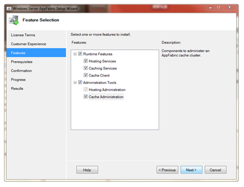 Windows Server AppFabric Setup Wizard