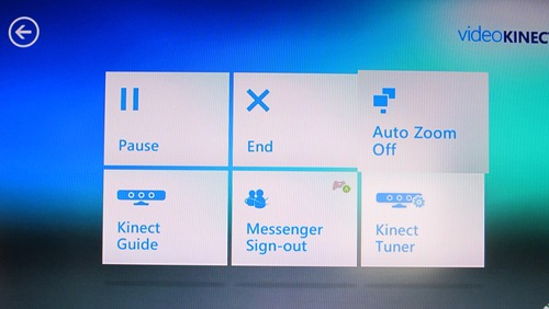 Video Kinect options