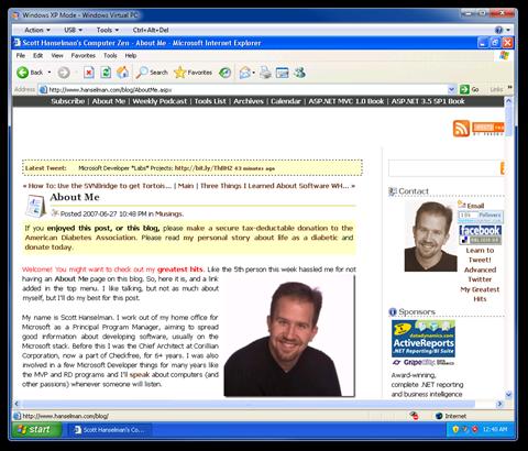 Windows XP Mode - Windows Virtual PC