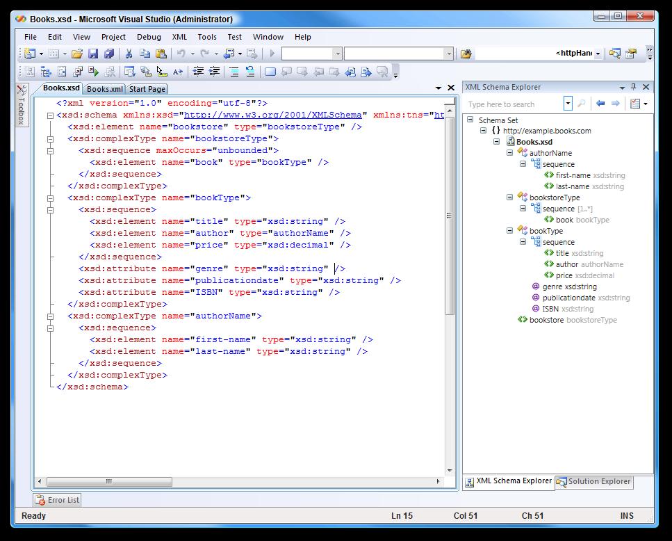 New xml schema designer ctp released for visual studio 2008 scott xml schema designer publicscrutiny Gallery