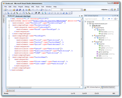 XML Schema Designer