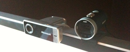 LifeCam VX-7000 and LifeCam Cinema HD side by side