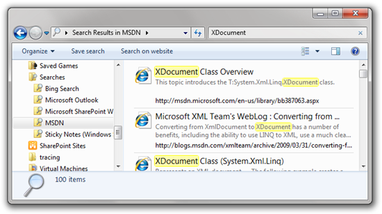 XDocument - Search Results in MSDN