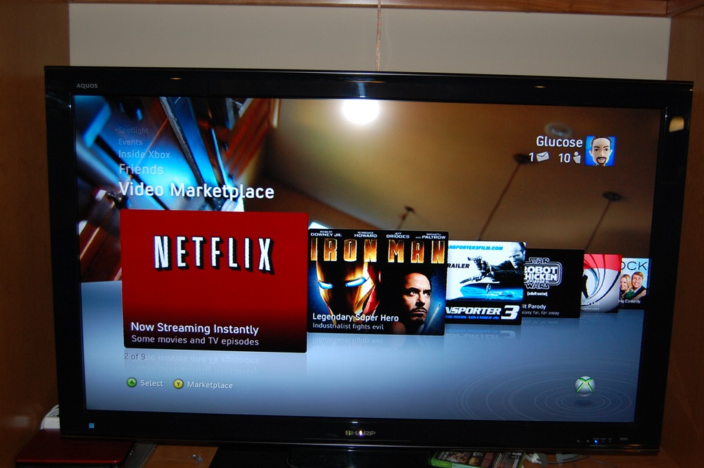 xbox 360 windows media center 1080p tv