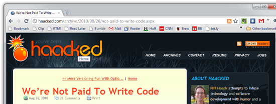 We're Not Paid To Write Code - Google Chrome
