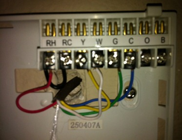Installing the Filtrete Thermostat, wires exposed and hooking them up