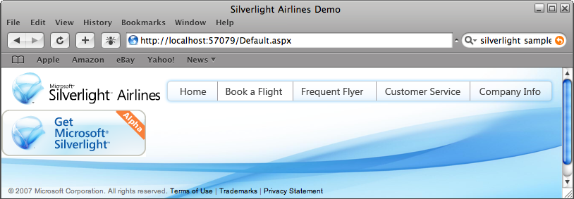 Silverlight Airlines Demo