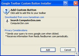 Google Toolbar Custom Button Installer