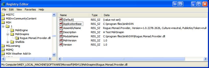 Registry Editor Monad 1