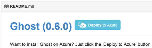 The Deploy to Azure Button