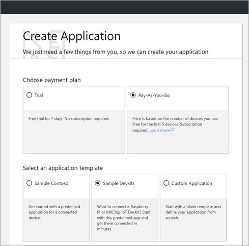 Create a New Azure IoT Central App