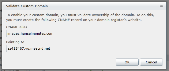 Pointing my custom domain to the CDN
